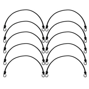 "image of 10 pack 1/2""x48"" bungee cords"