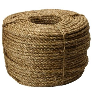 "Image of 3/16"" twisted manila rope"