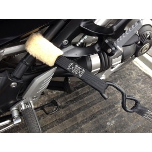 image of plush cover motorcycle straps