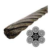 "6 x 37 EIPS IWRC 3/8"" galvanized wire rope"