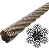 "7/16"" stainless steel wire rope: 6 x 19 construction"