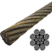 "8 x 19 EIPS IWRC bright 3/4"" wire rope"