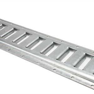 E-track in a galvanized finish