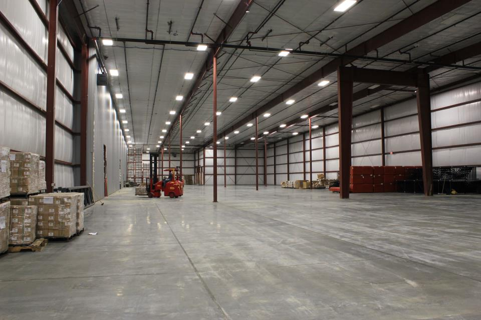 New Warehouse Space Nearly Complete