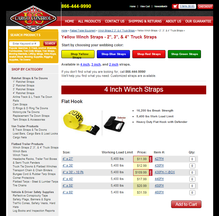 New Website Pages for Winch Straps and Wire Rope