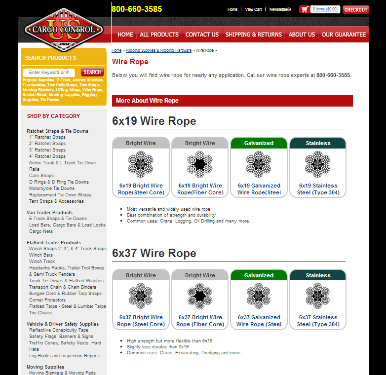 image of wire rope page