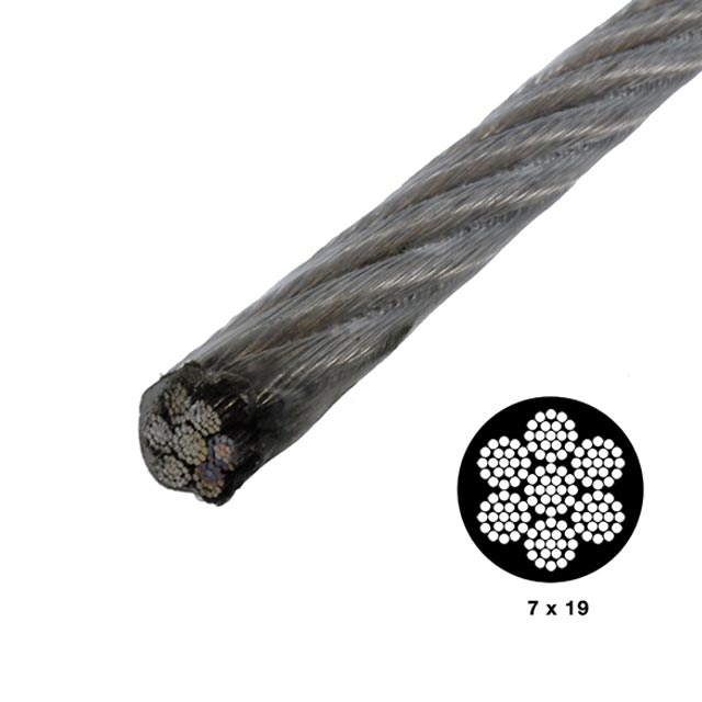 image of vinyl coated cable