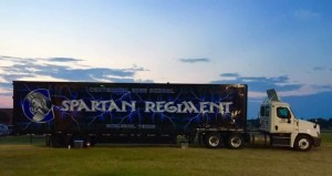 Custom cargo nets from US Cargo Control created organized and secure storage areas in the trailer used for the Spartan Regiment Marching Band from Centennial High School in Burleson, TX.
