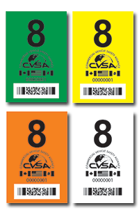 International Roadcheck CVSA sticker 2021