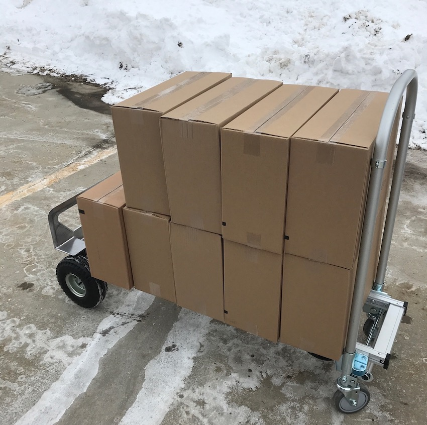 using a convertible hand truck to make delivery of cargo easier
