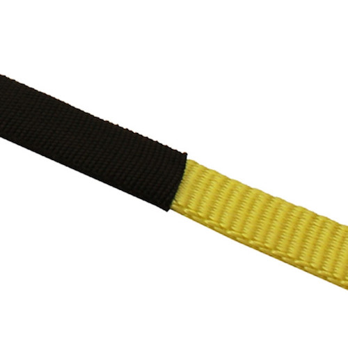 Cordura wear sleeve for ratchet strap abrasion resistance