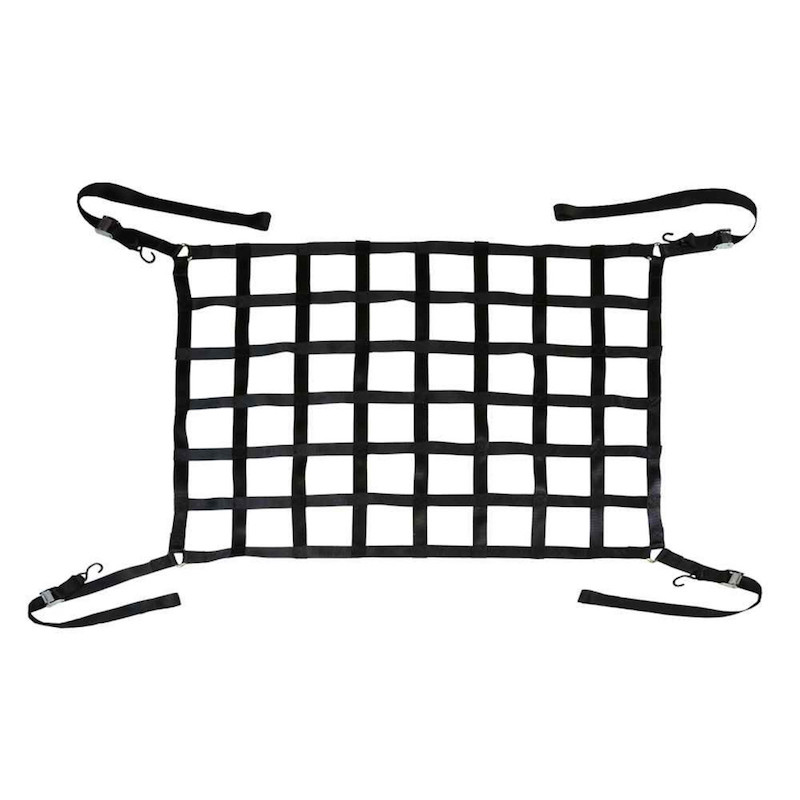 Cargo net with cam buckles and s hooks