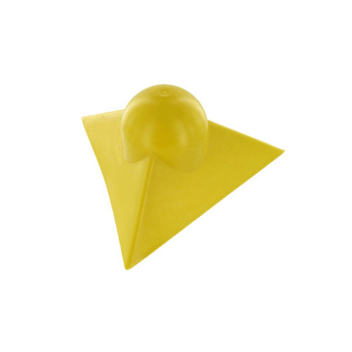 yellow plastic corner protector for tarp and flatbeds
