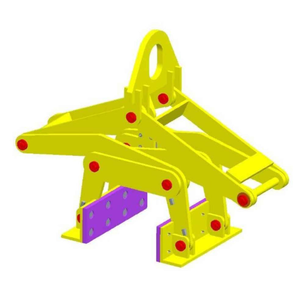 concrete block lifting device grabber