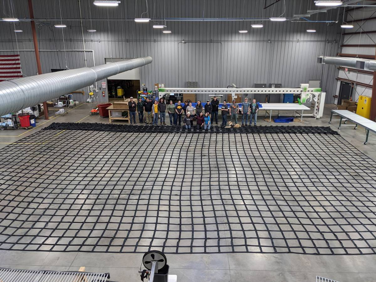 The Biggest Cargo Net The Manufacturing Team Created Thus Far!