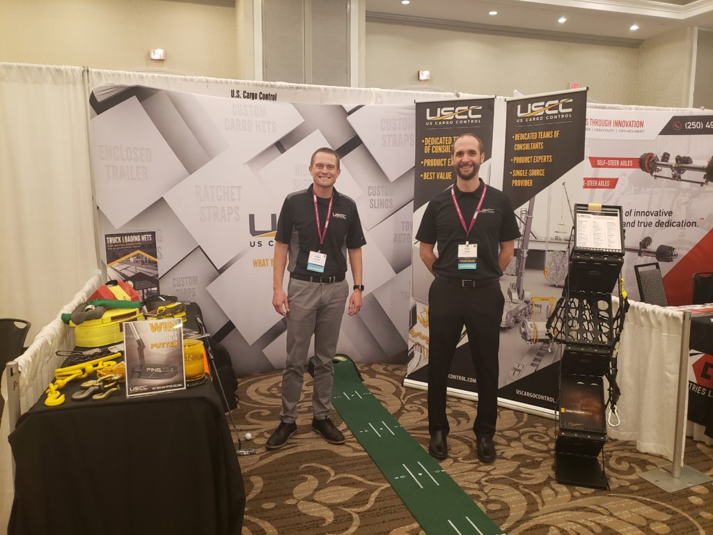 trade show booth at SCRA