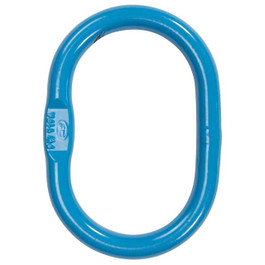 Blue Grade 120 oblong master link ring.