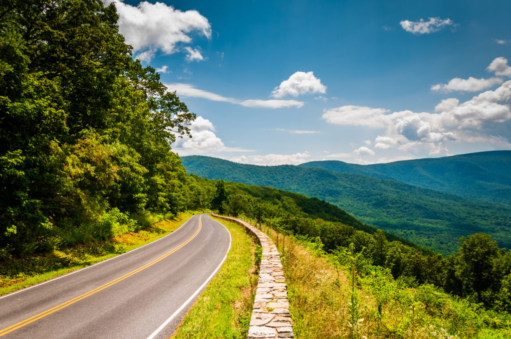 Blue Ridge Mountains in North Carolina known as one of most scenic states