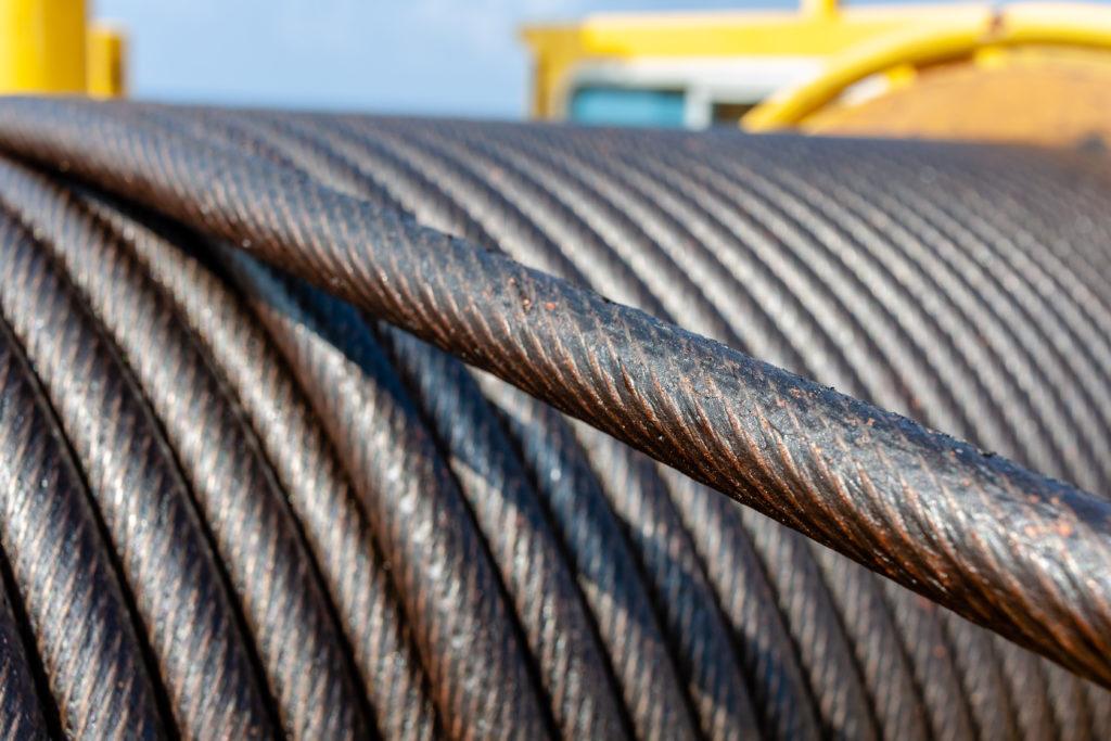 steel wire rope sling in heavy industrial